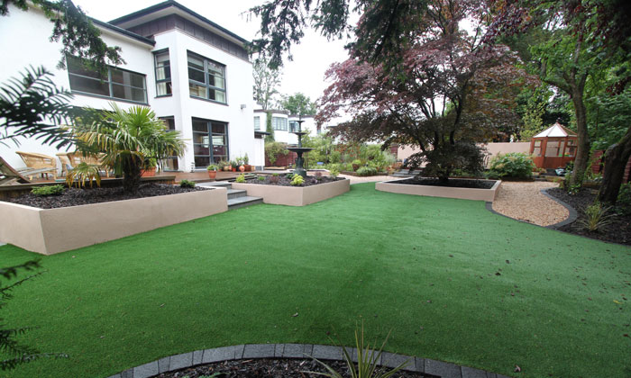 Luxury large garden design and landscaping