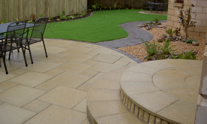 Detailed paving design by landscape designer martin watt