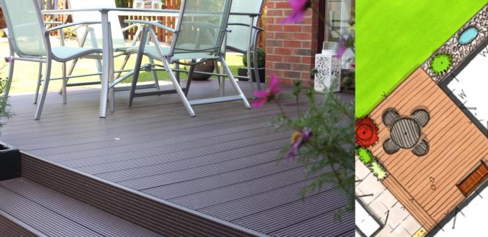 Contemporary low maintenance outdoor room garden
