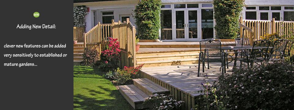 garden design for mature gardens by Martin Watt Gardens