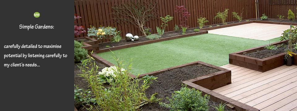simple garden designs in Scotland  from Martin Watt Gardens