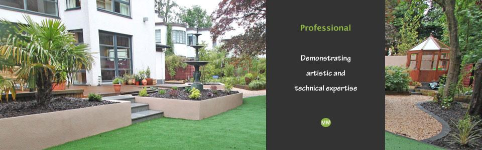 professionally designed large gardens